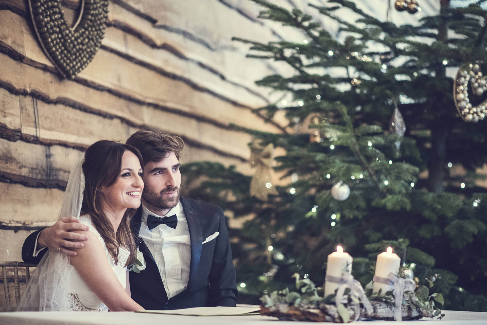 "We loved how Sarah & Matt transformed the barn into their own winter wonderland. Photography courtesy of Ben Robinson <a href=""http://www.thomasthomasphotography.co.uk/"" target=""_blank"">http://www.thomasthomasphotography.co.uk/</a>"