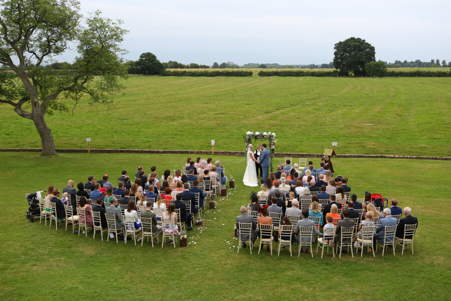 Where better to say your vows than in the gorgeous North Yorkshire countryside? Heather and Dan's wedding. Photography by Simon Stock.