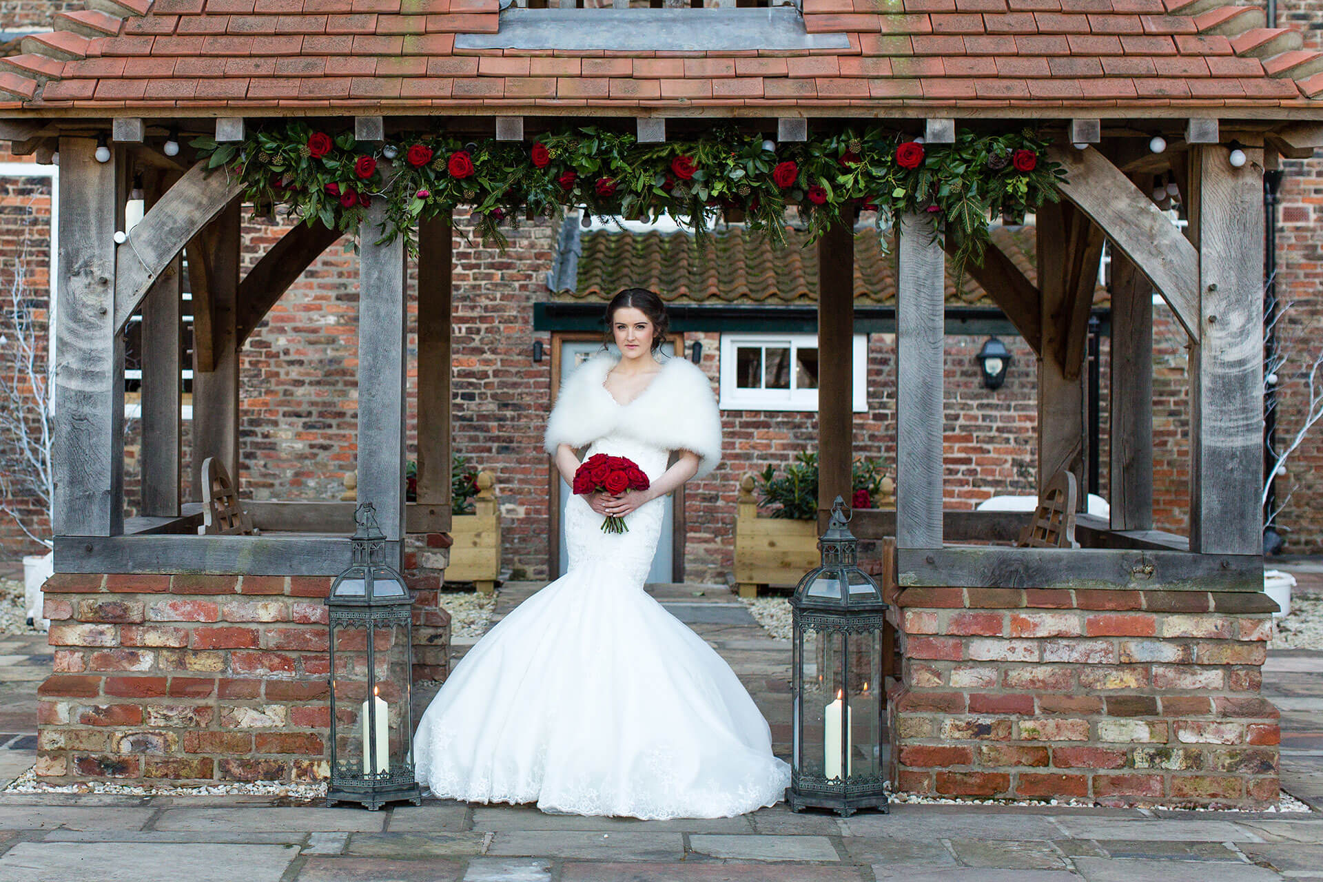 "The stunning Hayley under the Lych Gate. Photography by <a href=""http://www.tuxandtalesphoto.co.uk/"" target=""_blank"">Tux and Tales</a>."