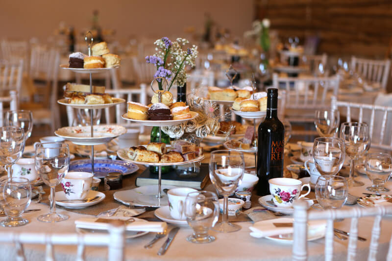 What a spread! A yummy afternoon tea at Ben and Sammy's wedding. Photography by Simon Stock.