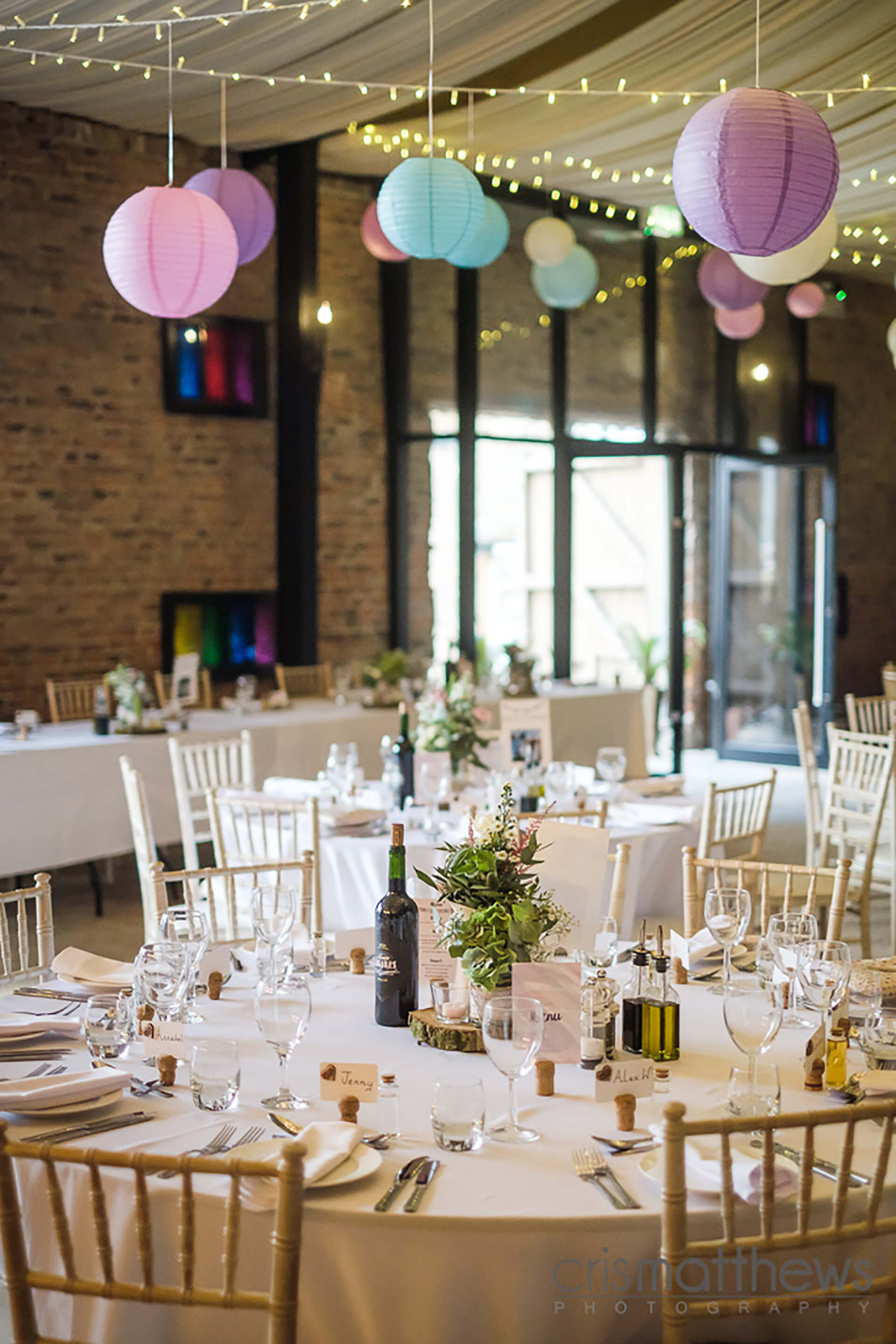 "Rachael and Dan's colourful reception. Image by <a href=""http://www.crismatthews.com/"">Chris Matthews Photography</a>"