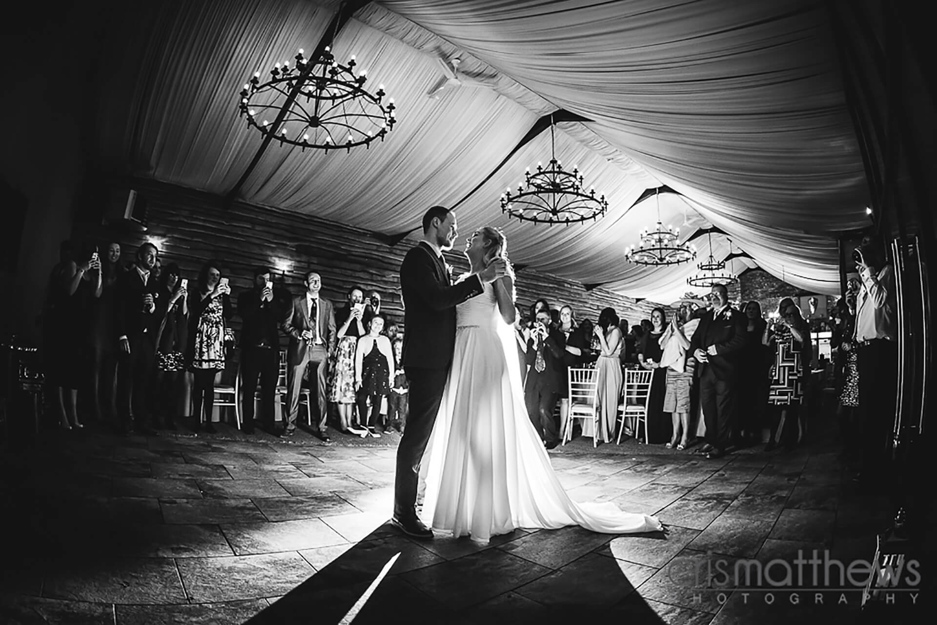 "Laura and Joe's first dance shot by <a href=""http://www.crismatthews.com/"">Chris Matthews Photography</a>"