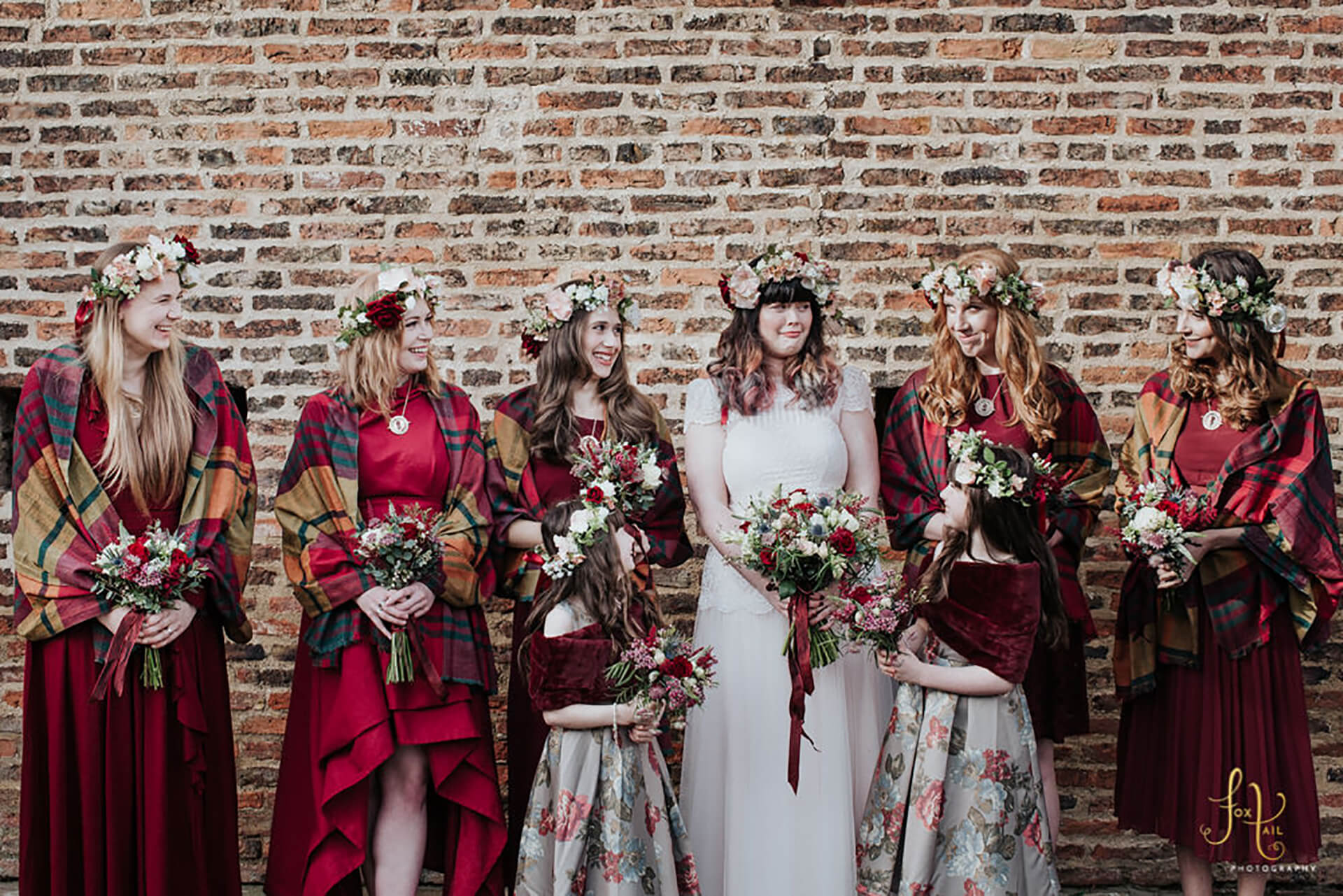 "Becky and her Bridesmaids, captured by <a href=""http://foxtailphotography.co.uk/"" target=""_blank"">Fox Tail Photography</a>"