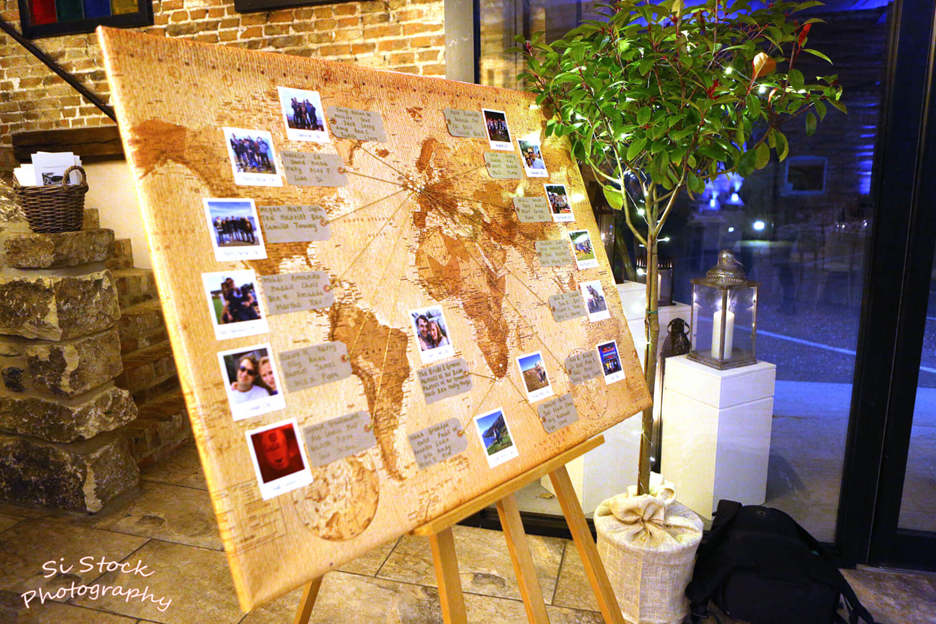 Claire and john's brilliant seating plan tracked their travels around the world. Photo by Simon Stock.