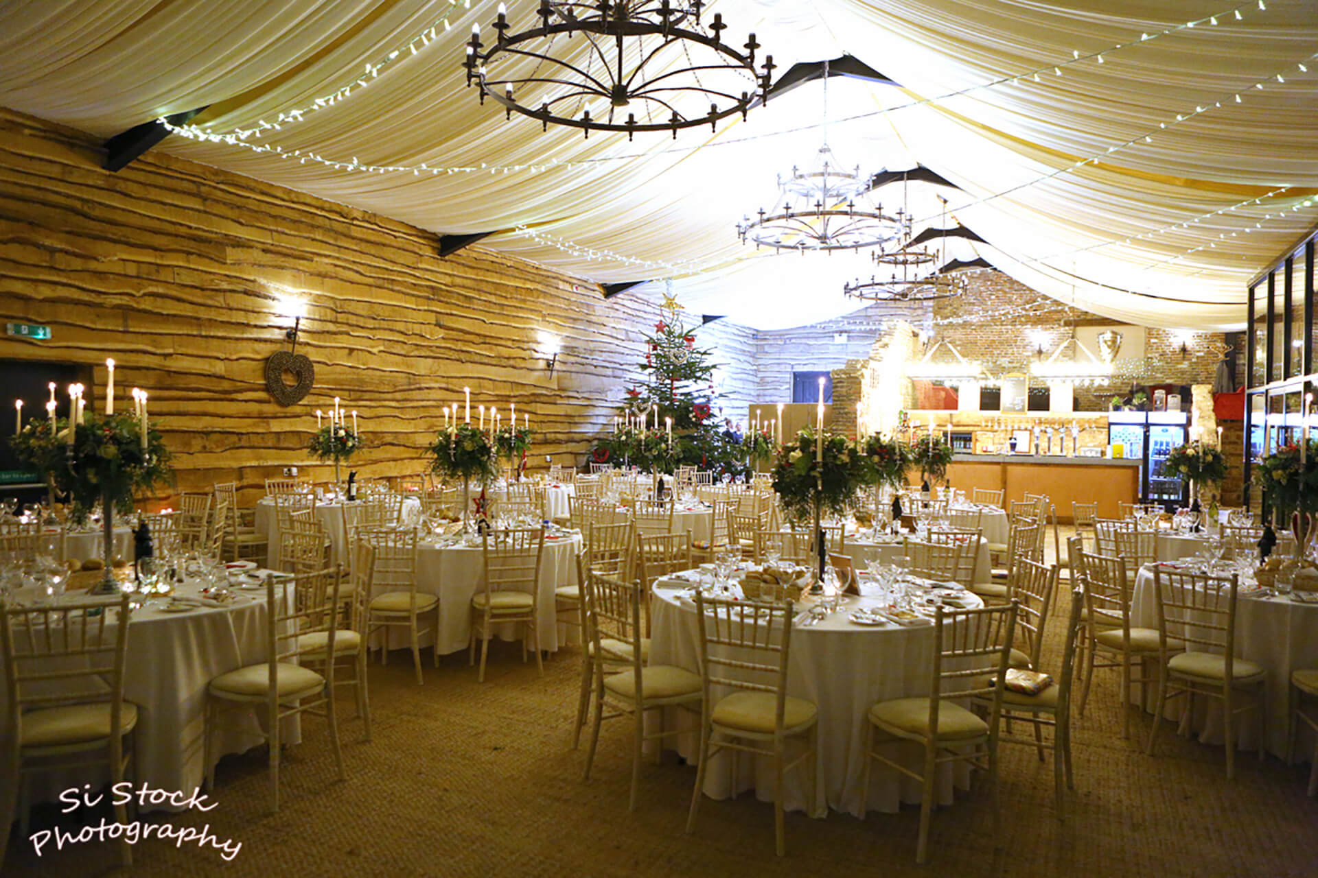 The Barn at Christmas- the wedding of Holly and James