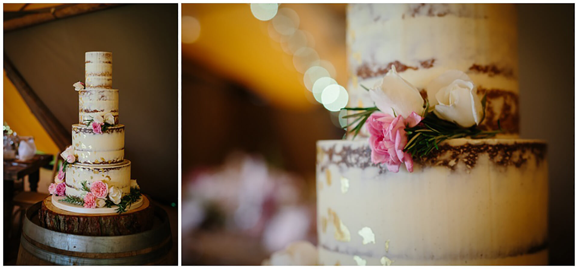 "Sophie and Roz's beautiful cake captured by <a href=""https://wynndaviesphotography.com/"" target=""_blank"">Wynn Davies</a>."