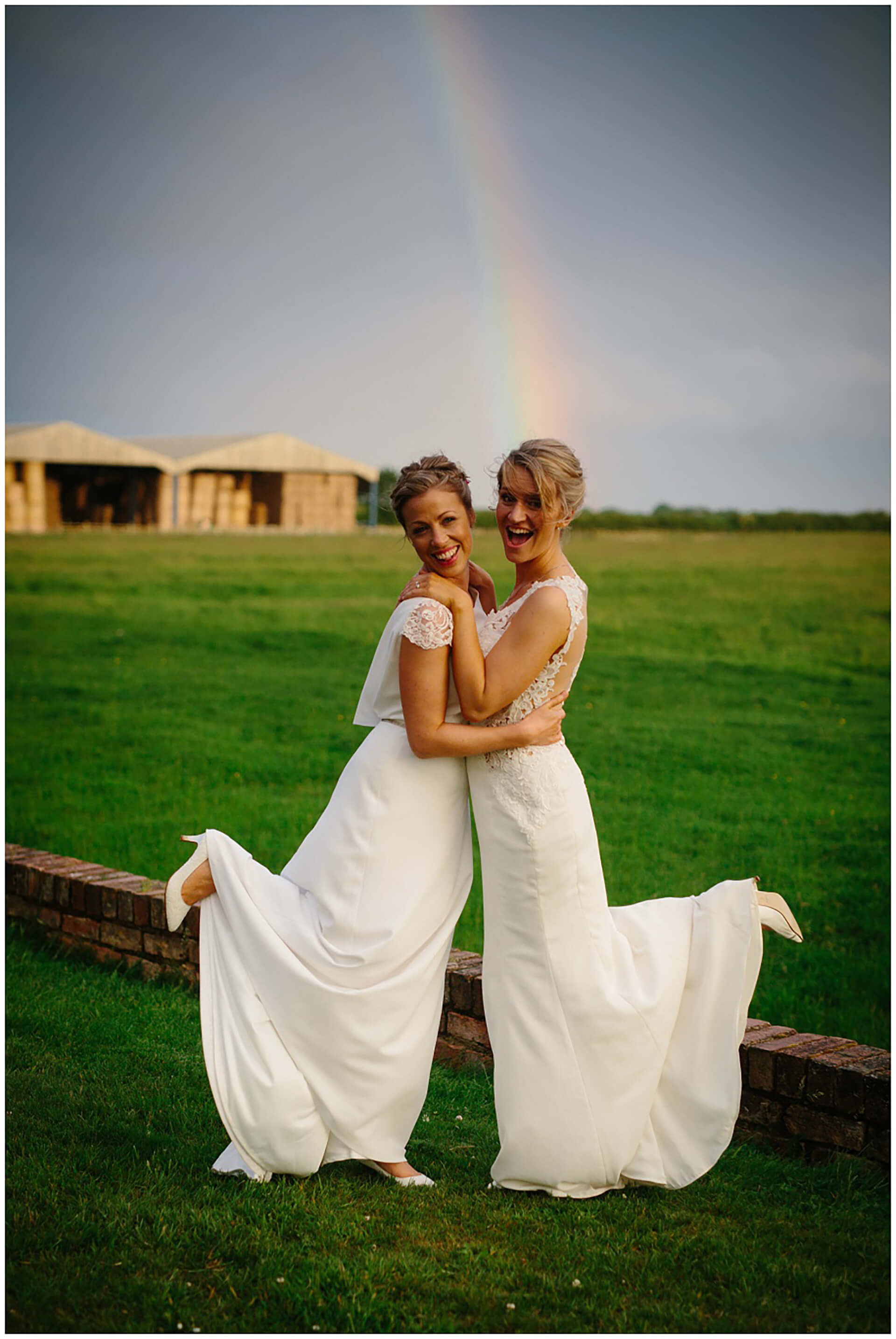 "Sophie and Roz at the end of the rainbow! Photo by <a href=""https://wynndaviesphotography.com/"" target=""_blank"">Wynn Davies</a>."