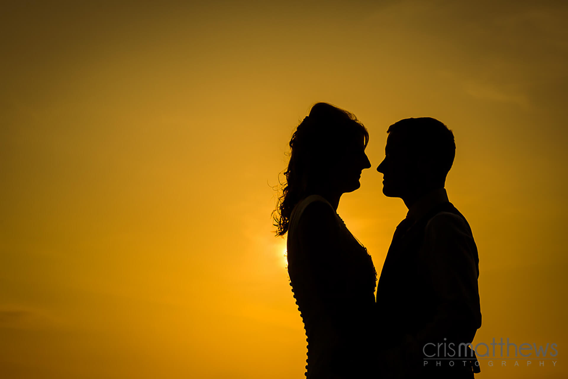 "Stunning shot of Katy and Matt by <a href=""http://www.crismatthews.com/"">Chris Matthews Photography</a>."
