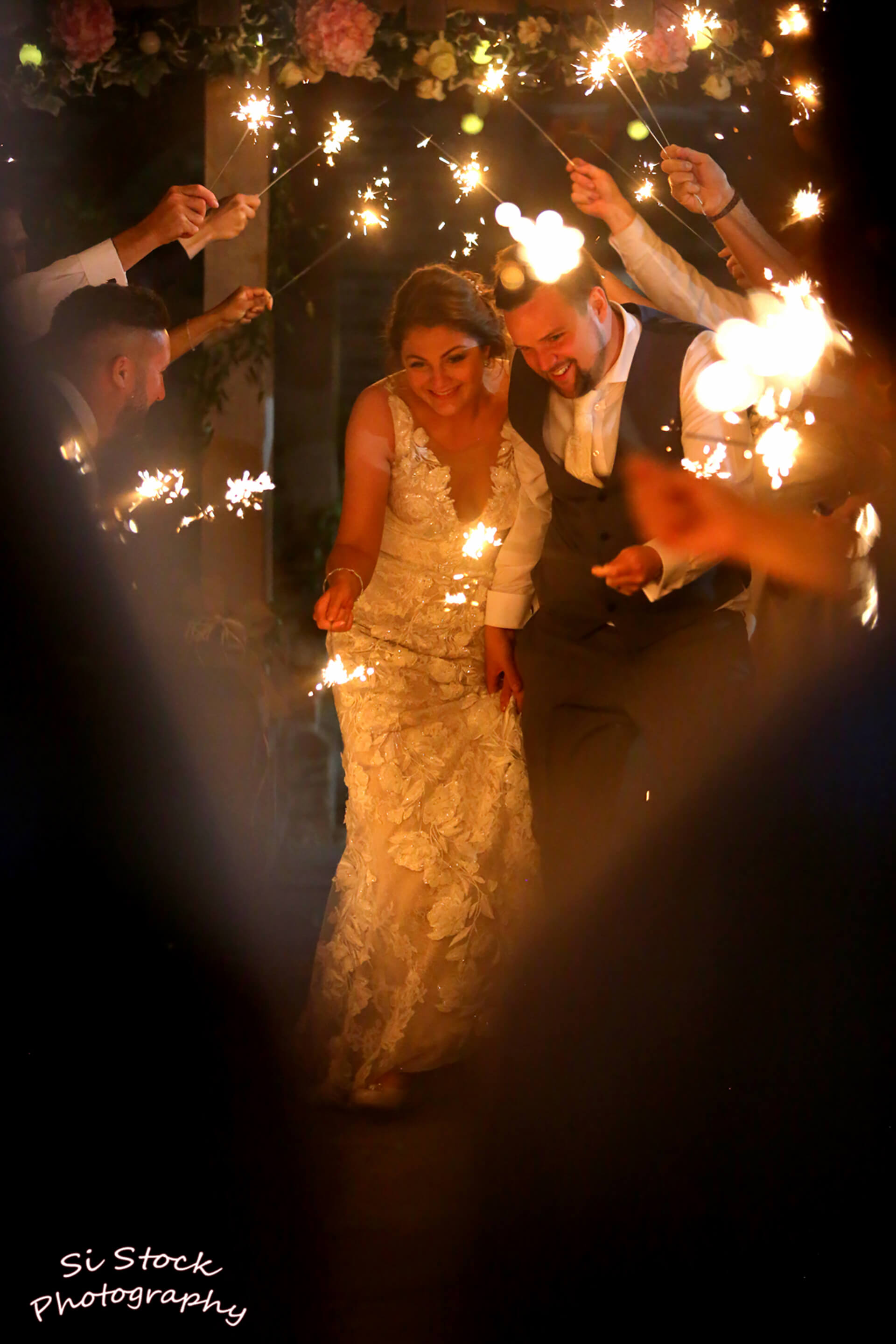 Lou and Dan surrounded by sparkle, photo taken by Simon Stock.