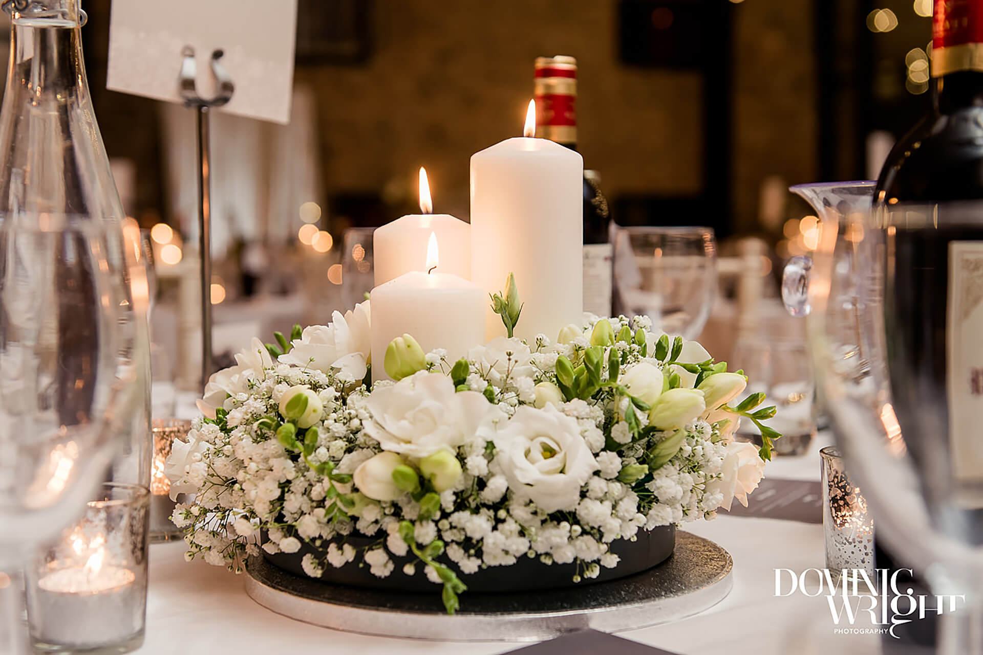 "Wintery centerpieces captured by <a href=""http://www.dominicwright.co.uk/"" target=""_blank"">Dominic Wright Photography</a>"