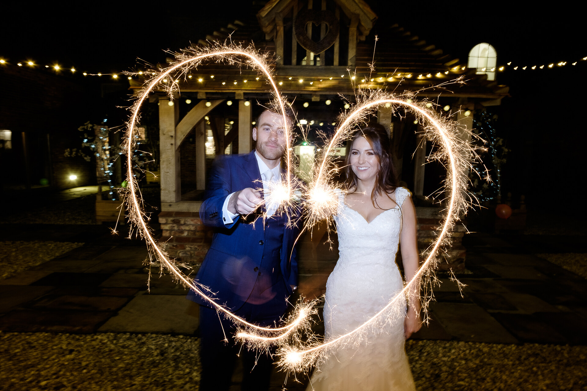 "<a href=""http://www.mjhstudio.co.uk/"" target=""_blank"">Mark J Hillyer</a> captured this amazing shot of Callie and George- the definition of 'Let Love Sparkle'!"