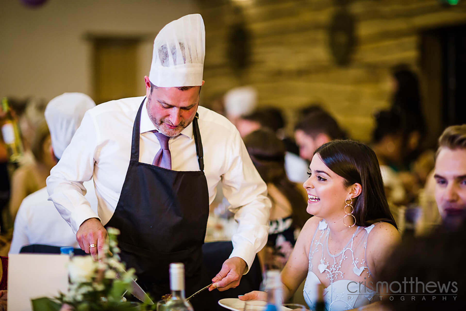 "Let the guests do the carving! Photo by <a href=""http://www.crismatthews.com/"">Chris Matthews Photography</a>"